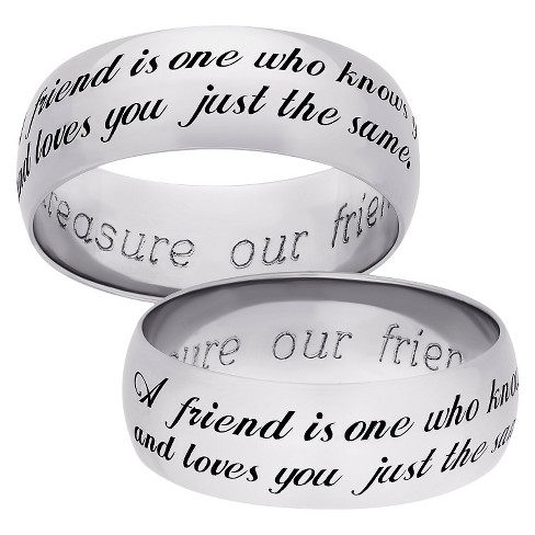 "Sterling Silver ""Sweet Sentiments"" Friend Band - Silver - image 1 of 1"