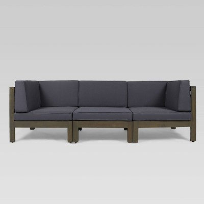 Brava 3pc Acacia Modular Sofa - Christopher Knight Home