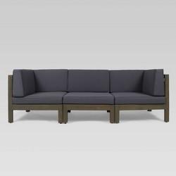 Brava 3pc Acacia Modular Sofa - Christopher Knight Home
