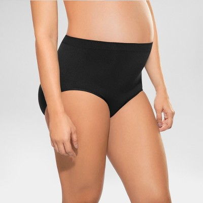 Annette Women's Soft and Seamless Pregnancy Panty Brief - Black 3X