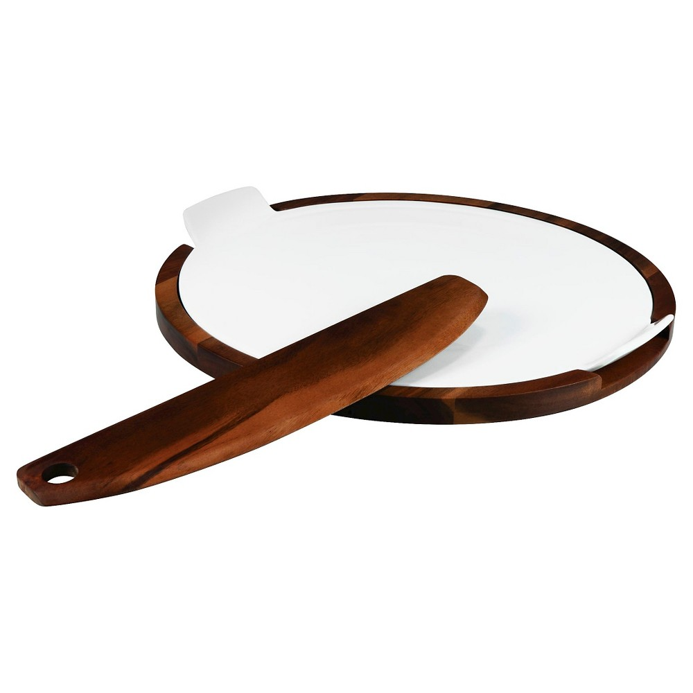Image of Picnic Time Heritage Collection 3pc Margherita Pizza Set - Acacia