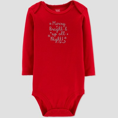 Baby Girls' Merry and Bright Bodysuit - Just One You® made by carter's Red Newborn