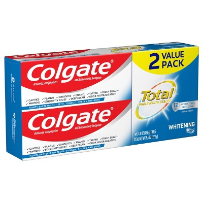 Colgate Total Whitening Gel Toothpaste - 4.8oz