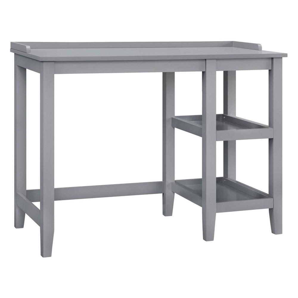 Hillvale Single Pedestal Desk Gray - Room & Joy