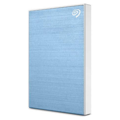 Seagate Backup Plus Slim 2TB External Hard Drive Light Blue USB 3.0 (STHN2000402) - image 1 of 4