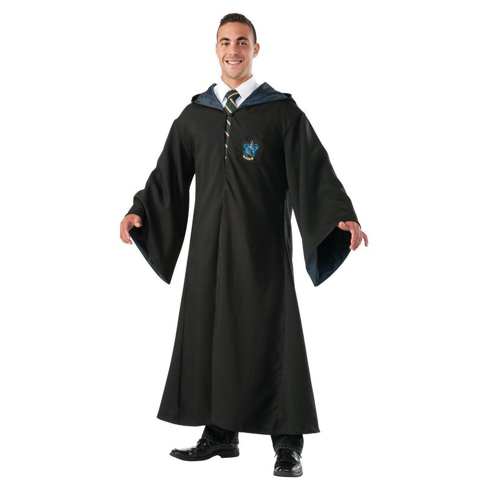 Image of Halloween Harry Potter Adult Ravenclaw Replica Deluxe Robe Costume - One Size, Adult Unisex, Black