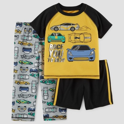 Baby Boys' 3pc Cars Pajama Set - Just One You™ Made by Carter's® Yellow 18M