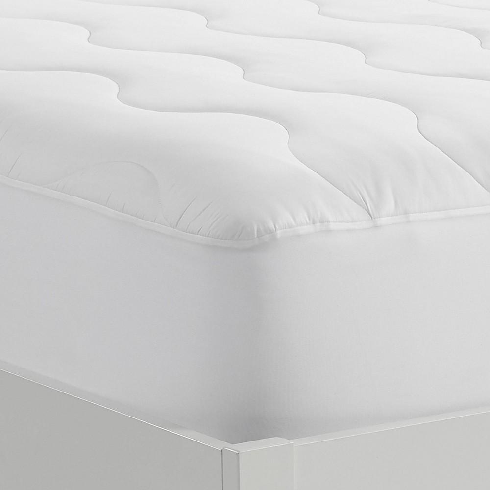 Image of California King Extra Comfort Mattress Pad - Serta, White