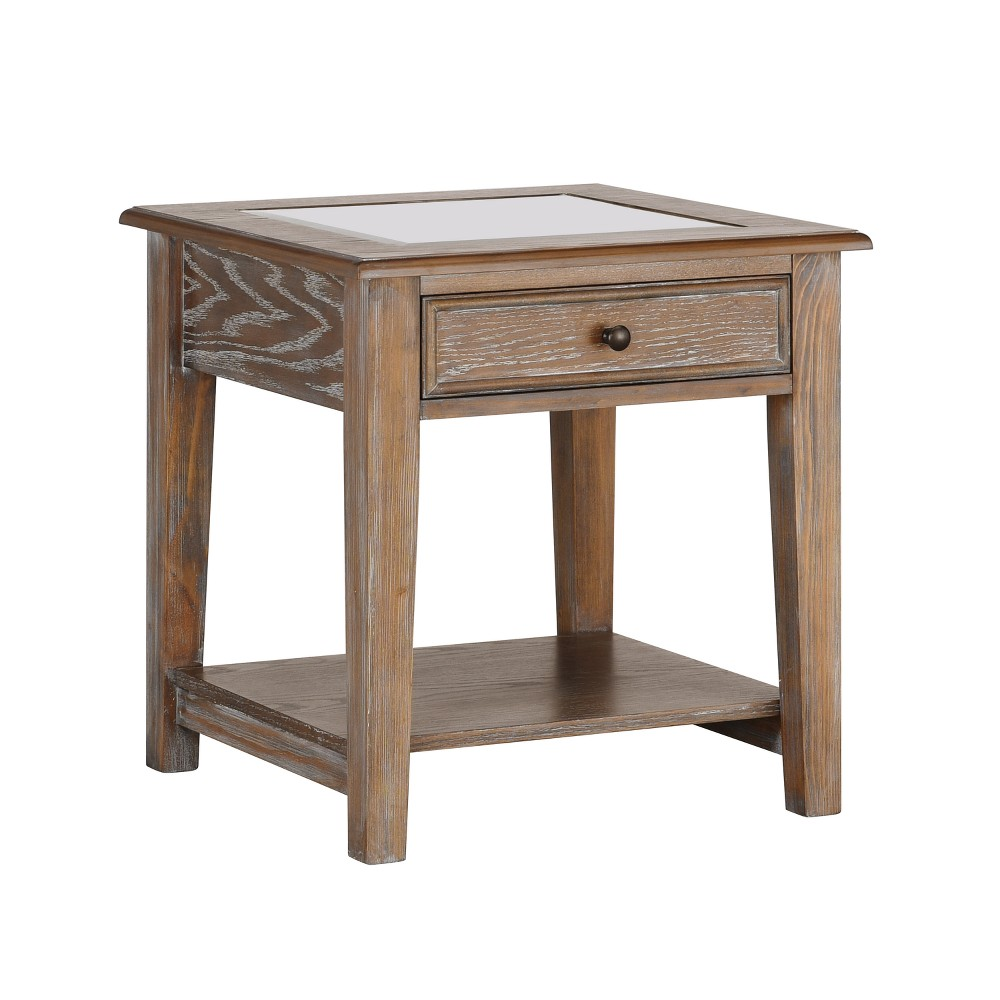 Ormond Display Top End Table Burnt Oak - Aiden Lane, Light Brown