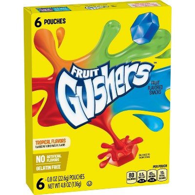 Fruit Gushers Tropical Flavored Fruit Snacks - 6ct