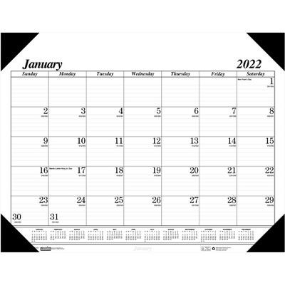 """House of Doolittle 2022 13"""" x 18.5"""" Desk Pad Calendar Economy Black-on-White 012402-22"""