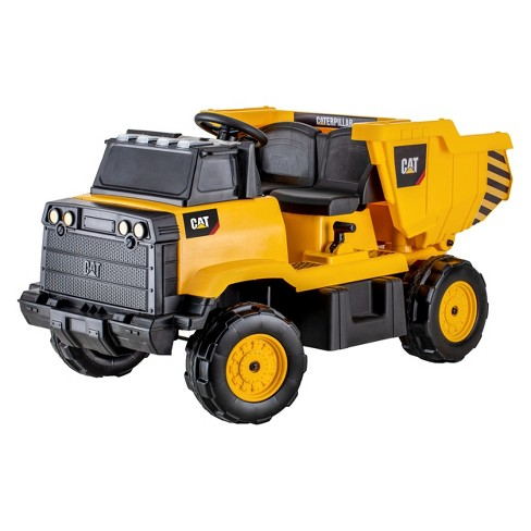 Kid Trax CAT Dumptruck 12V Ride On - Yellow - image 1 of 4