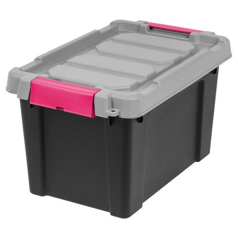 IRIS 5 Gal. Heavy Duty Plastic Storage Bin - 4pk - image 1 of 9
