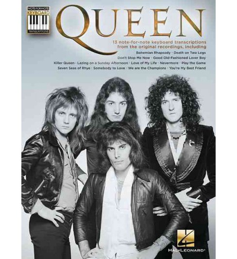 Queen : Note-for-Note Keyboard Transcriptions (Paperback) - image 1 of 1