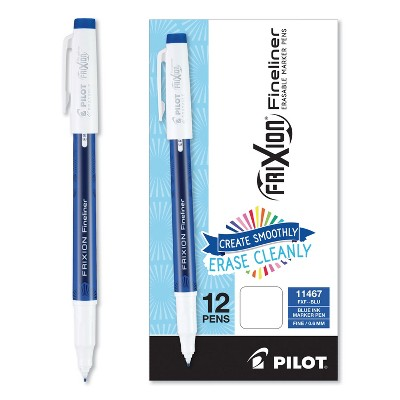 Pilot FriXion Erasable Stick Marker Pen 0.6 mm Blue Ink/Barrel Dozen 11467