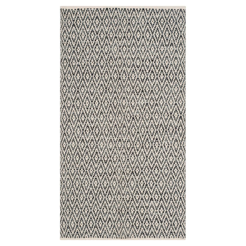 Montauk Rug - Ivory/Dark Gray - (4'x6') - Safavieh, White