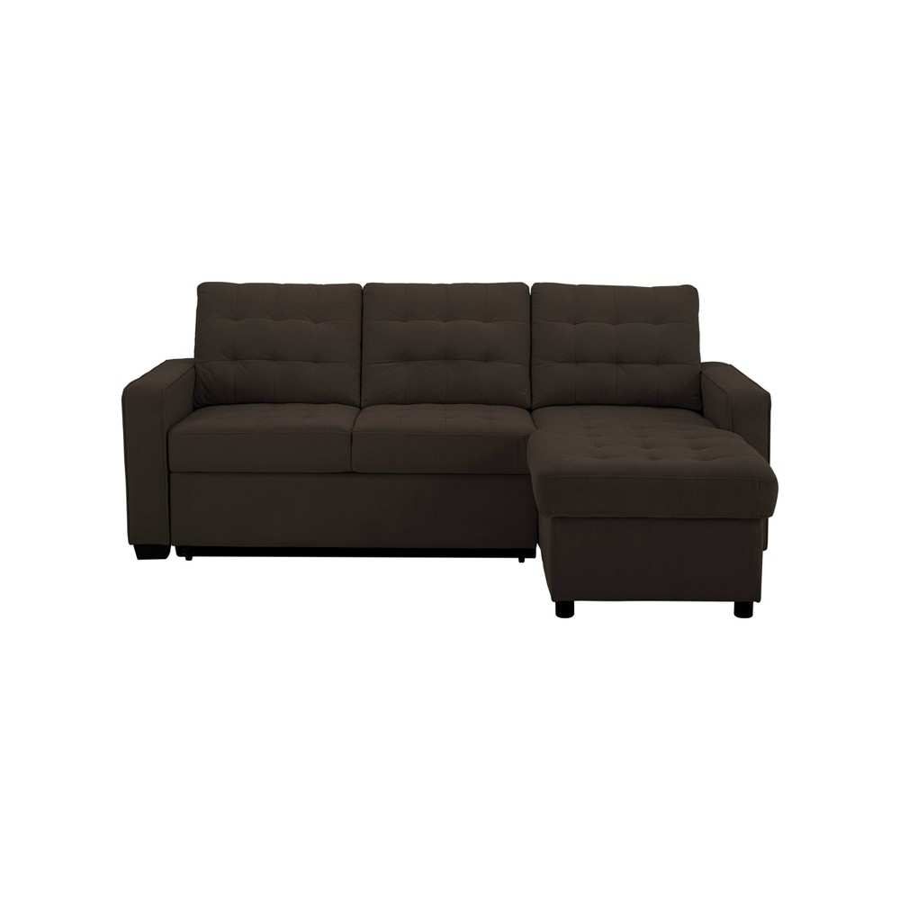 Image of Queen Serta Brady Convertible Sofa with Storage Espresso Brown - Lifestyle Solutions