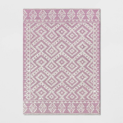 5'X7' Jacamar Geometric Design Tufted Area Rug Blush Pink - Opalhouse™
