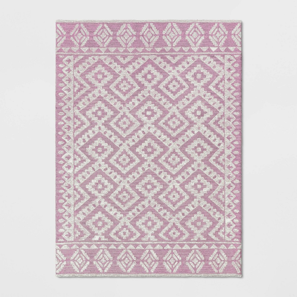 5'X7' Jacamar Tribal Design Tufted Area Rug Blush Pink - Opalhouse was $179.99 now $89.99 (50.0% off)