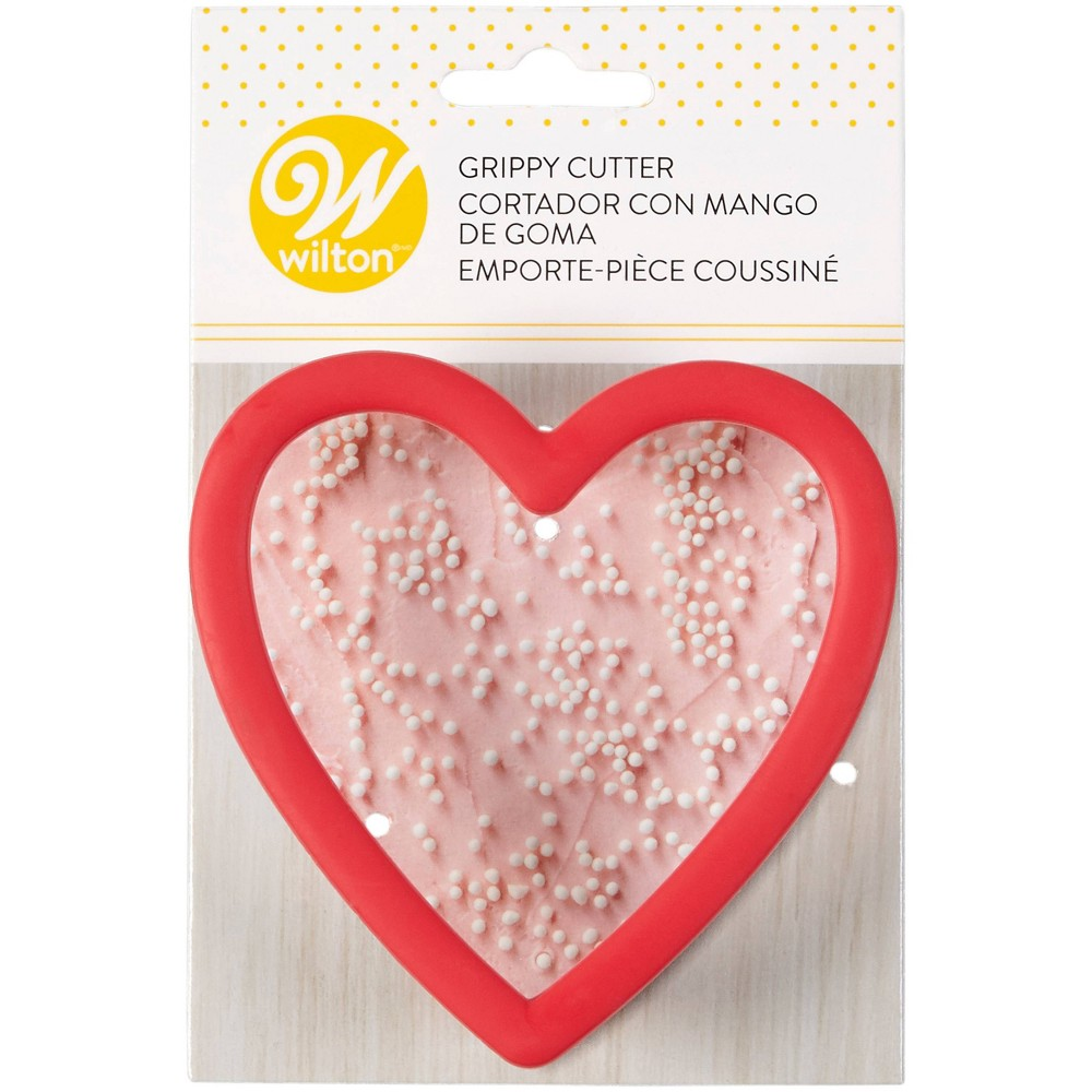 Image of Wilton Heart Grippy Cookie Cutter - Red
