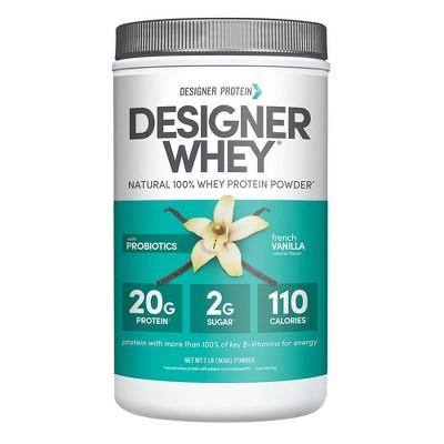 Designer Whey Protein Powder - French Vanilla - 32oz