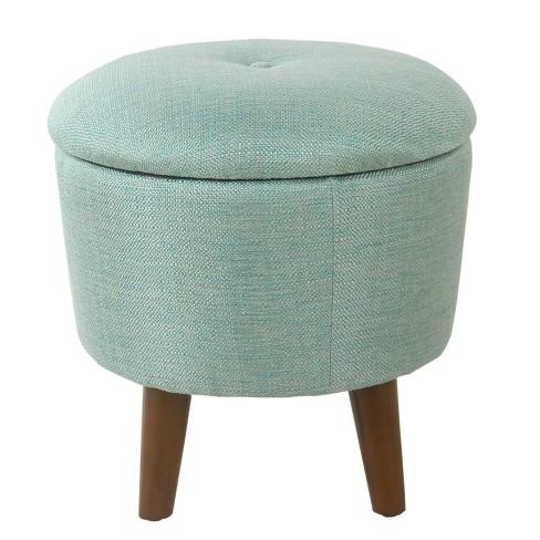 Groovy Modern Round Woven Tufted Storage Ottoman Homepop Machost Co Dining Chair Design Ideas Machostcouk