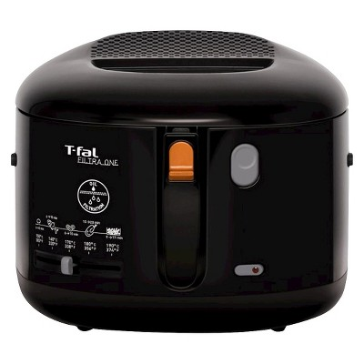 T-fal Filtra One FF162850 2.2qt Deep Fryer Stainless Steel Black