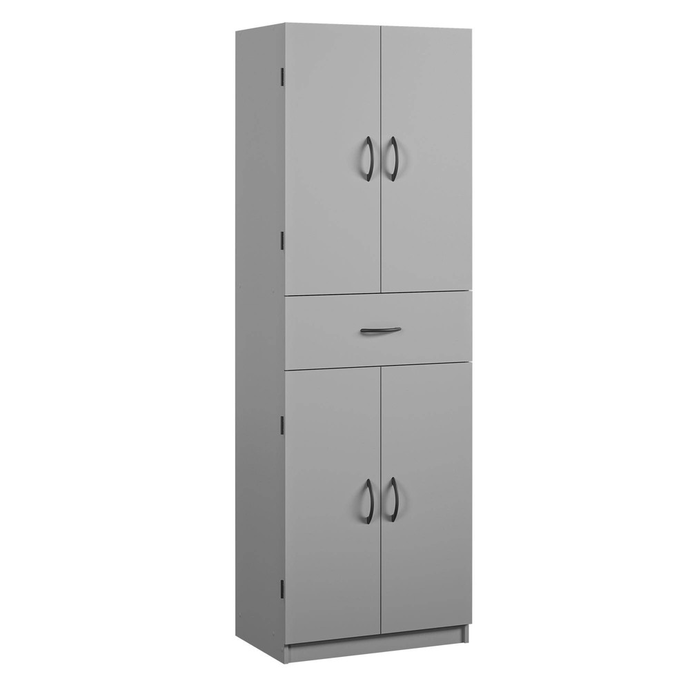 Brockwood Storage Cabinet with Drawer Gray - Room & Joy