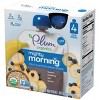 Plum Organics Mighty Morning Organic Baby Food, Banana, Blueberry, Oat, Quinoa - 3.17oz (Pack of 4) - image 3 of 4