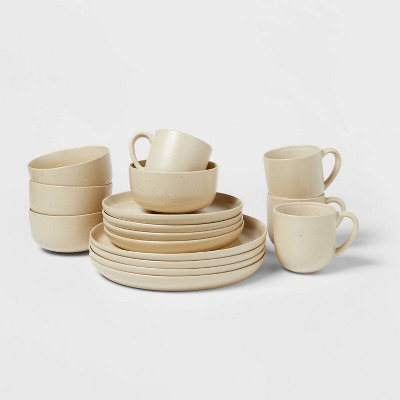 16pc Stoneware Tilley Fashion Dinnerware Set White - Project 62™