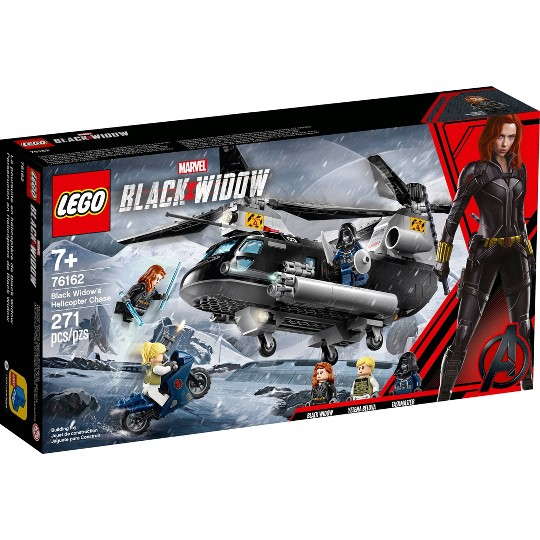 LEGO Marvel Avengers Black Widow's Helicopter Chase 76162 Playset with 3 Minifigures 271pc image number null