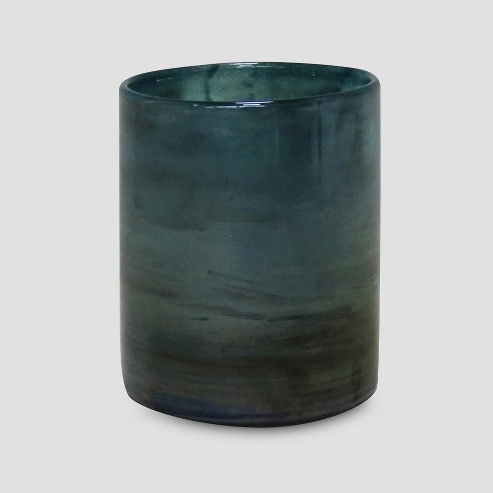 5 Glass Outdoor Lantern Blue - Opalhouse