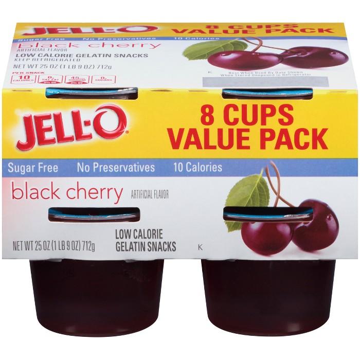 JELL-O Sugar Free Black Cherry Gelatin - 25oz/8pk - image 1 of 4
