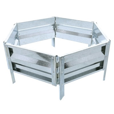 Garden Bed Plant Holder Kit With Adjustable Galvanized Iron by Pure Garden