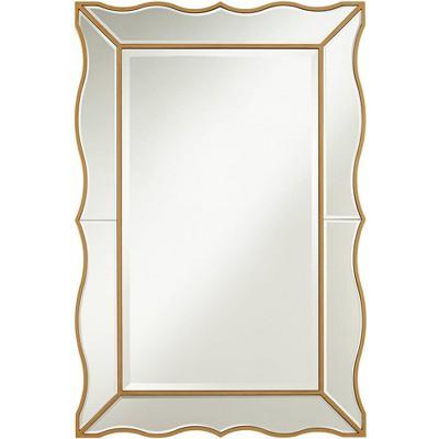 "Noble Park Delania 28"" x 42"" Antique Gold Fancy Edged Wall Mirror"