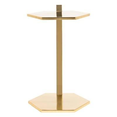 Aurea Hexagon C Table Gold - Safavieh