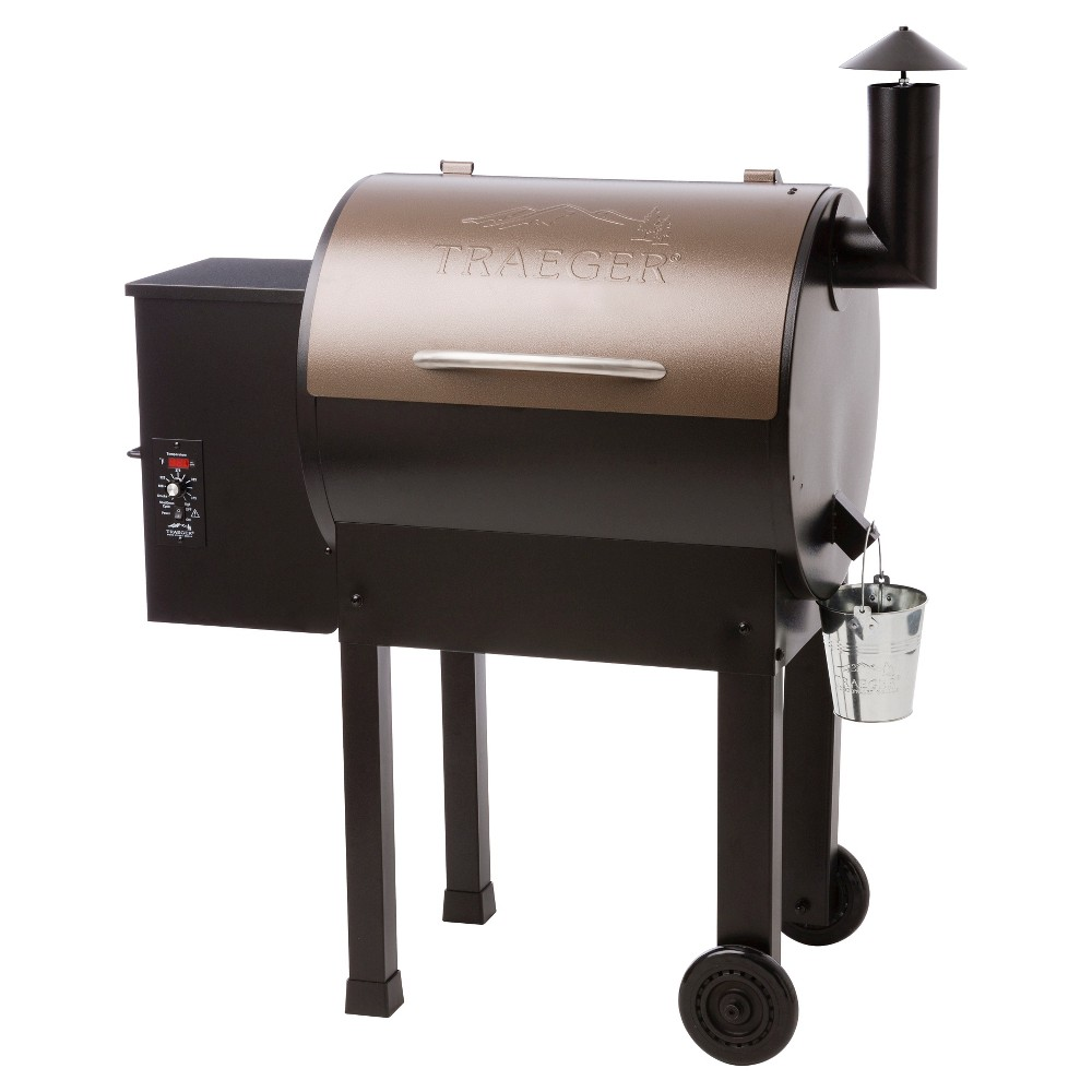 Traeger Lil' Tex Elite Wood Pellet Grill Model TFB42LZB, Black Traeger Lil' Tex Elite Wood Pellet Grill proves that really good things come in lil' packages. Combining the classic function of renowned Traeger Wood Pellet Grills with 418 square inches of grilling space, this is the perfect barbecue for serving up big taste to friends and family. Designed for more than just grilling, your Traeger will smoke, bake, roast, braise and barbecue with your choice of new and traditional wood flavors. Astoundingly simple to use and easy to clean and maintain, this versatile grill is ready for anything: from hickory ham to smoked salmon, wood fired pizza to grilled corn, roast chicken to braised pork, your only limit is your imagination. Model number TFB42LZB. Color: Black.