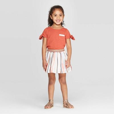 Genuine Kids® from OshKosh Toddler Girls' Embroidered Top and Bottom Set - Orange/Cream 2T
