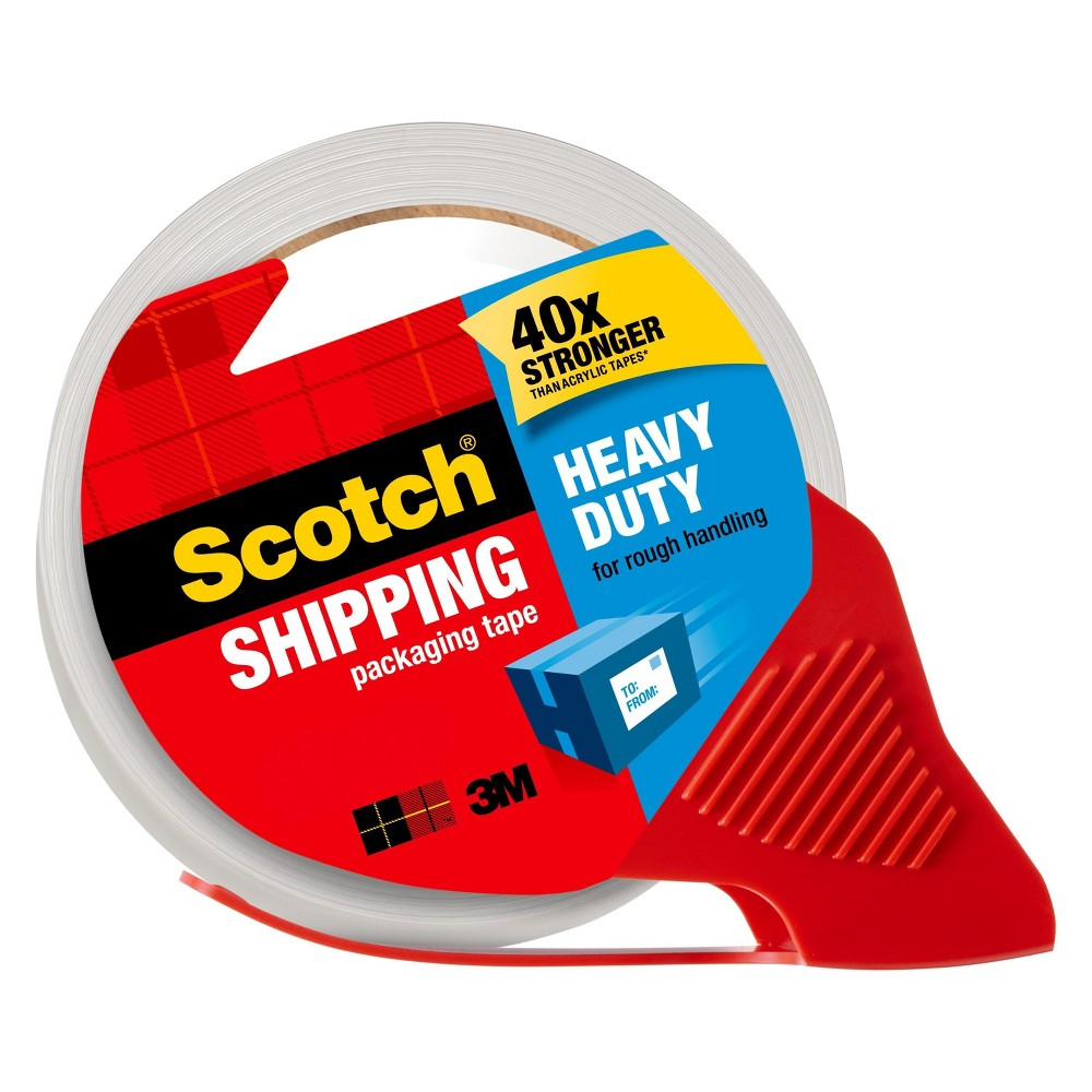 Scotch Shipping Packaging Tape With Dispenser, Heavy Duty, 1.88 X 54.6Yds
