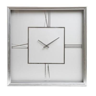 24  Roman Numeral Wall Clock Silver - Patton Wall Decor