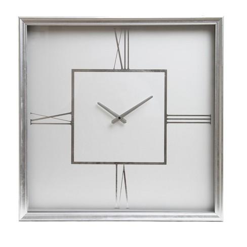 24 Roman Numeral Wall Clock Silver Patton Wall Decor Target
