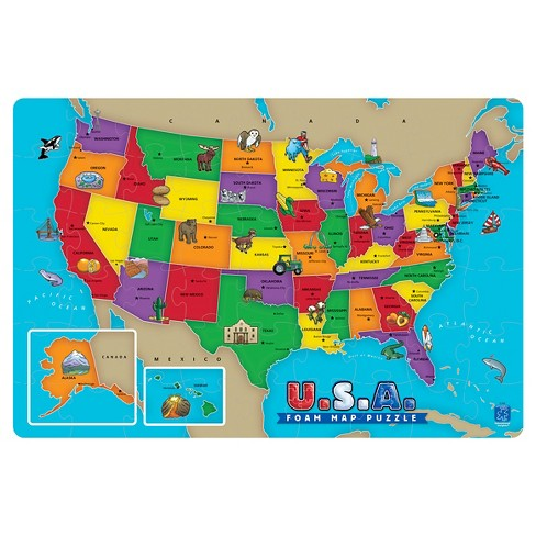 USA Foam Map Puzzle 54pc - image 1 of 3