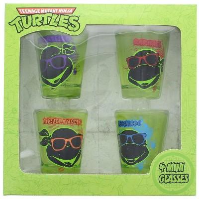 Just Funky Teenage Mutant Ninja Turtles Faces Shot Glass Set of 4