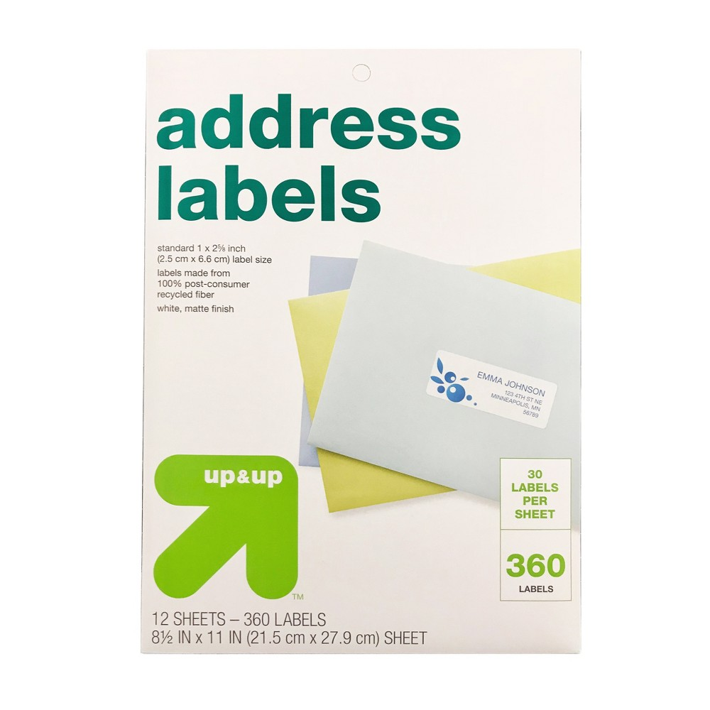 Image of Recycled Address Labels 360ct - Up&Up