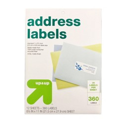 Recycled Address Labels 360ct - Up&Up™
