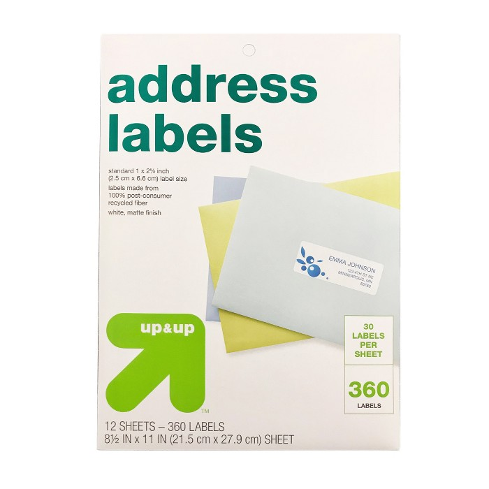 Recycled Address Labels 360ct - Up&Up™ - image 1 of 1