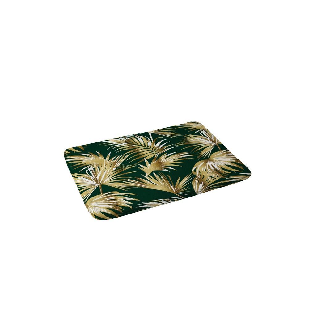 Marta Barragan Camarasa Golden Palms Bath Mat Golden Deny Designs