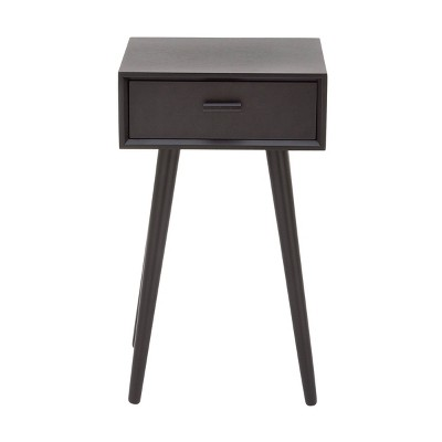 Modern Drawer Wooden Accent Table Black - Olivia & May