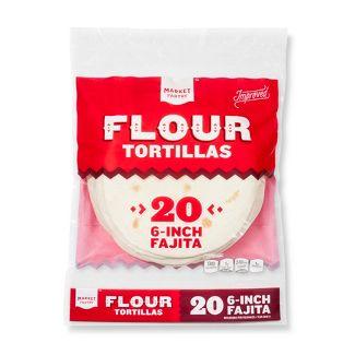 """6"""" Fajita Size Flour Tortillas - 21.8oz/20ct - Market Pantry™"""