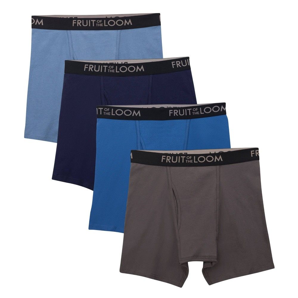 Image of Fruit of the Loom Men's 4pk Breathable Boxer Briefs - Navy/Blue XL, Men's, Size: XL, MultiColored